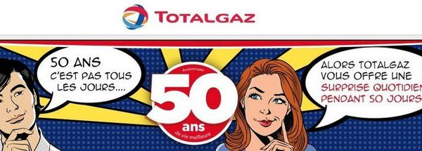 TOTALGAZ fête ses 50 ans avec une opération anniversaire