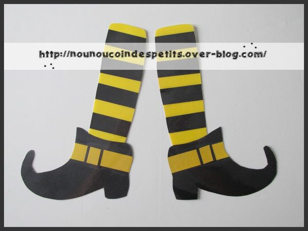 thème halloween &quot&#x3B; les jambes de la sorcière &quot&#x3B;