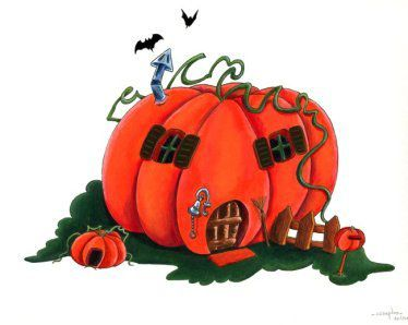 .. thème halloween .. &quot&#x3B; comptine illustré la maison citrouille &quot&#x3B;