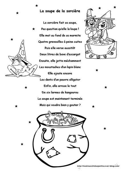 .. &quot&#x3B; La soupe de la sorcière &quot&#x3B; ( histoire illustré + activité peinture ) ..