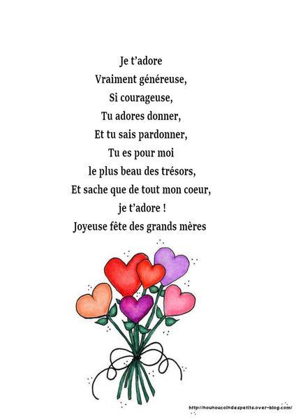 .. fête des mamies .. &quot&#x3B; personnage de mamie + poème &quot&#x3B;