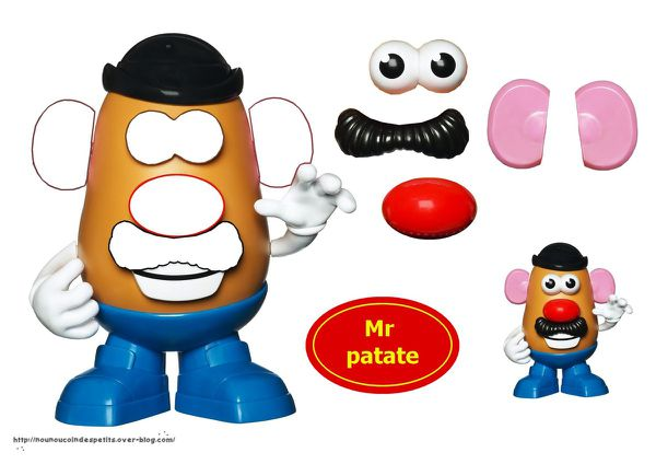 .. Mr et Mme patate collage ..