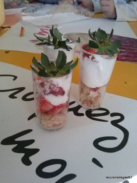Atelier enfants TAP'S Soultz sous Forêts : tiramisu aux fraises