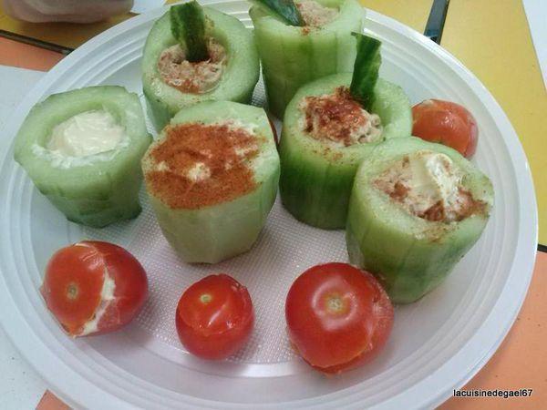 Atelier enfants TAP'S Soultz sous Forêts : nids salés (concombre, tomate)