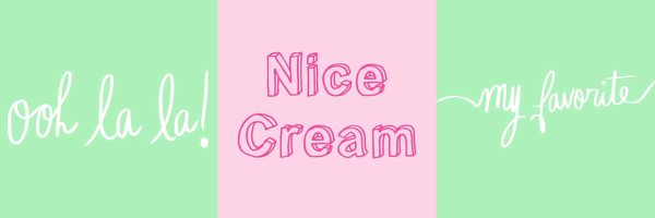 I scream for a Nice cream ! - Nice cream banane chocolat
