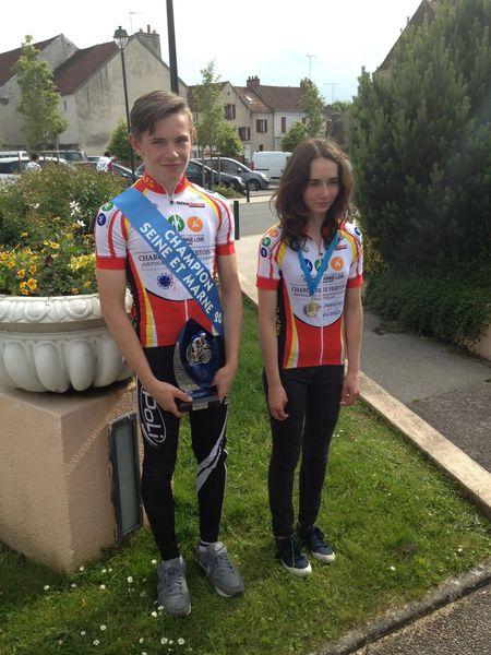 Julien EMERY, champion de Seine et marne et Camille FAHY