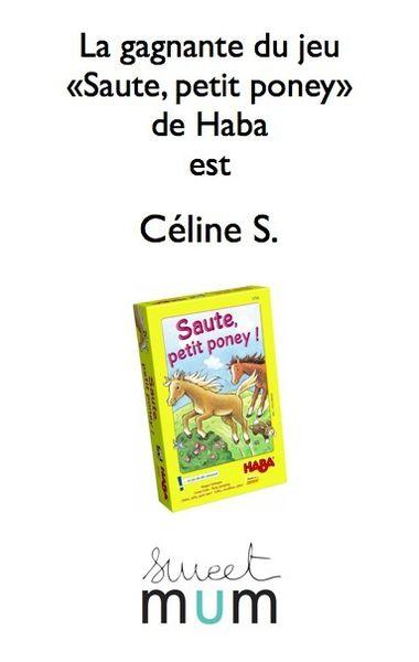 La gagnante du jeu &quot&#x3B;Saute, petit poney&quot&#x3B; est: