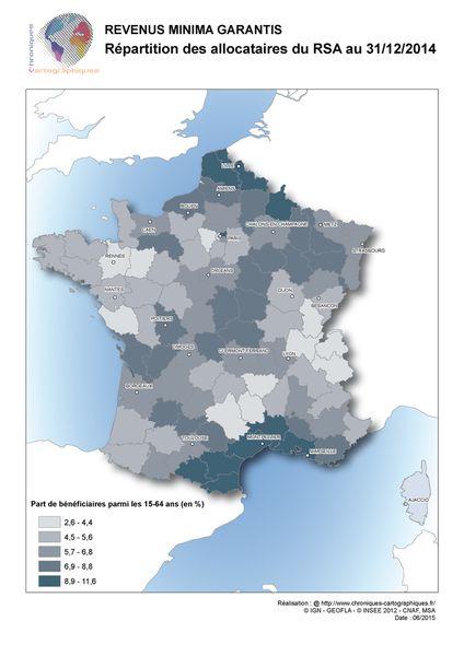 #carte de France RSA