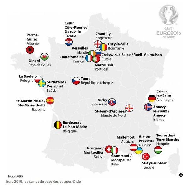 Euro 2016 en France : les cartes interactives