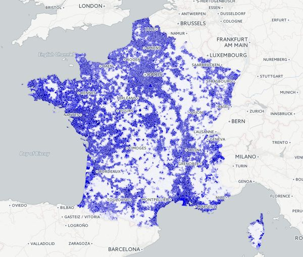 carte de france operateur mobile