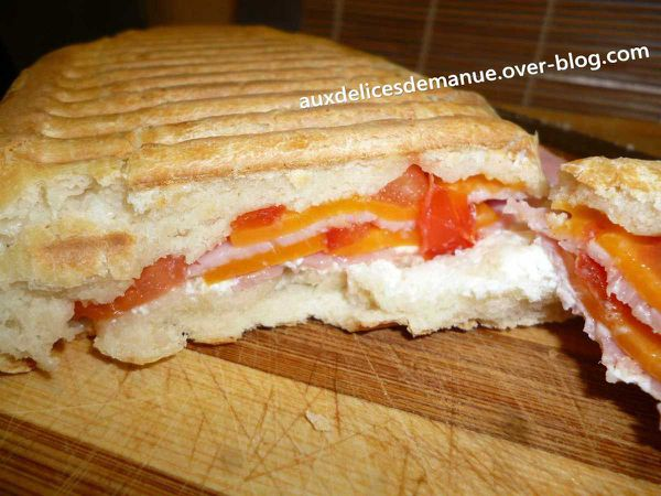 Panini fromages-jambon