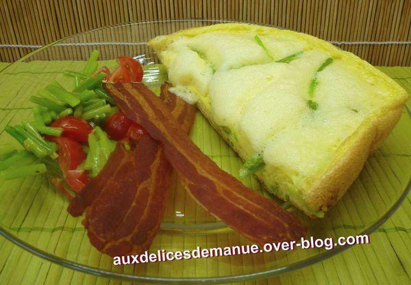 asperges sauvages à l'omelette soufflée, poitrine fumée séchée -LIGHT-