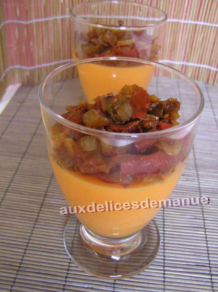 Panacotta poivron garniture tomate - LIGHT -