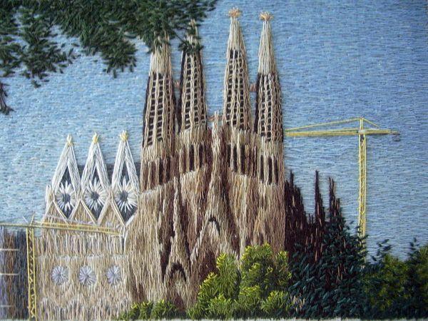 Broderie &quot&#x3B;La Segrada Familia&quot&#x3B;