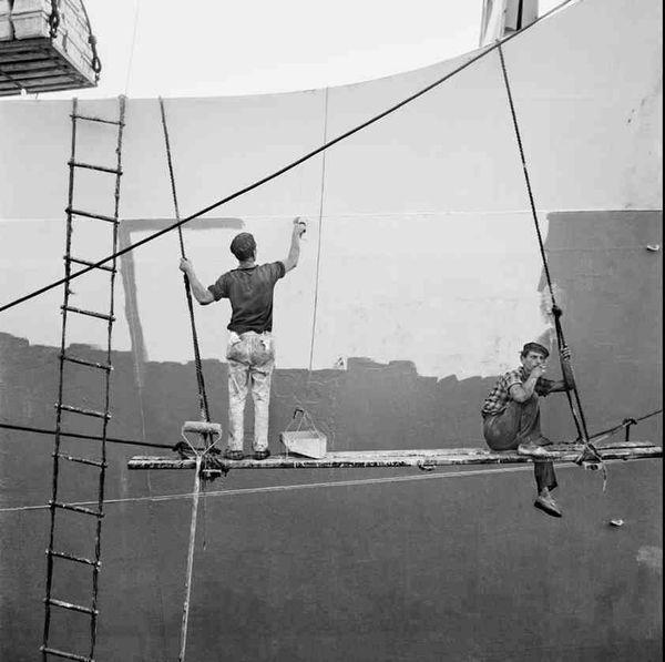 Carénage du navire. Canaries 1964