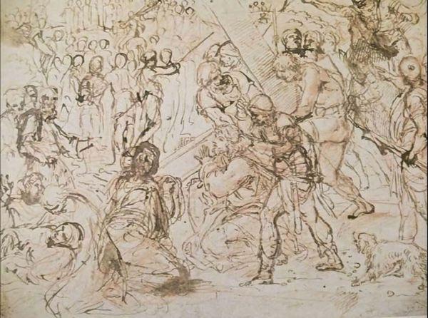 Annibale Carrache - Christ sur la croix