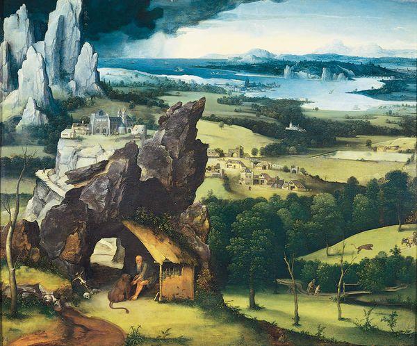 Joachim Patenier - Saint Jérôme dans un paysage rocheux