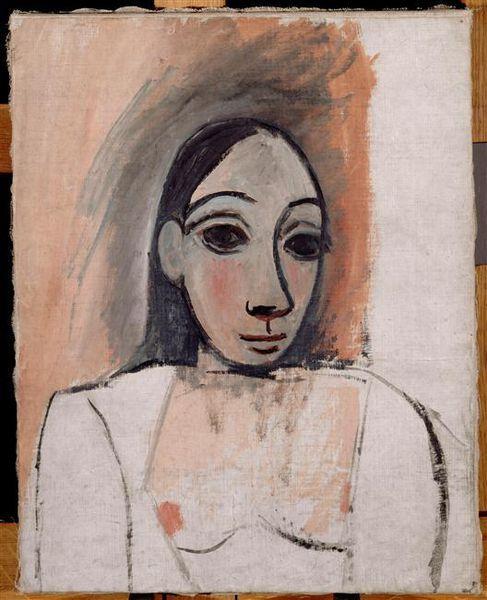 """Buste de Femme étude pour """"Les demoiselles d'Avignon"""""""