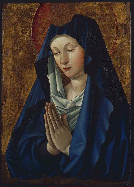 Vierge en prière vers 1480 - Musée des Beaux Arts de Tours