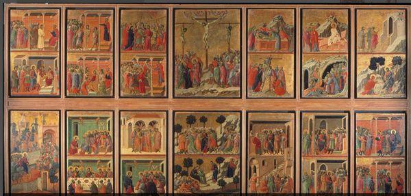 La Maestà  de la cathédrale de Sienne - Duccio di Buoninsegna