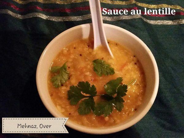 sauce au Lentille rouge split