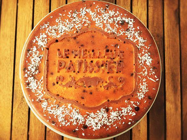 Gâteau au yaourt coco et pépites de chocolat