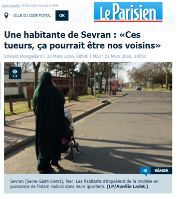Photo d'un article du journal Le Parisen
