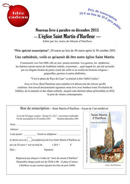 Un livre sur l'Eglise Saint Martin d'Harfleur