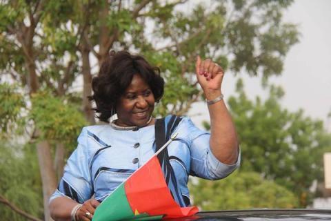 Mariam Sankara, la veuve du président Thomas Sankara, revenue au Burkina Faso.