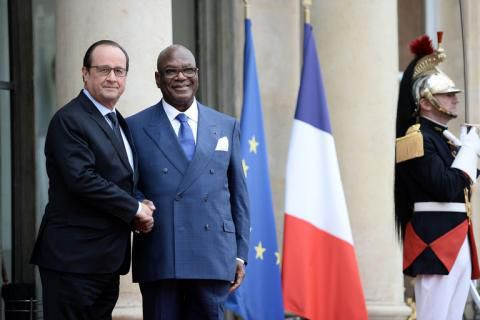 François Hollande et IBK
