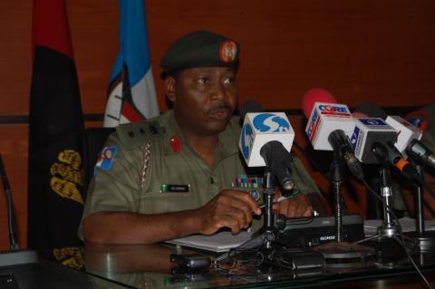 Le porte-parole de l'armée, le colonel Sani Usman.
