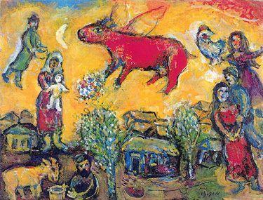 La vache rouge de Chagall