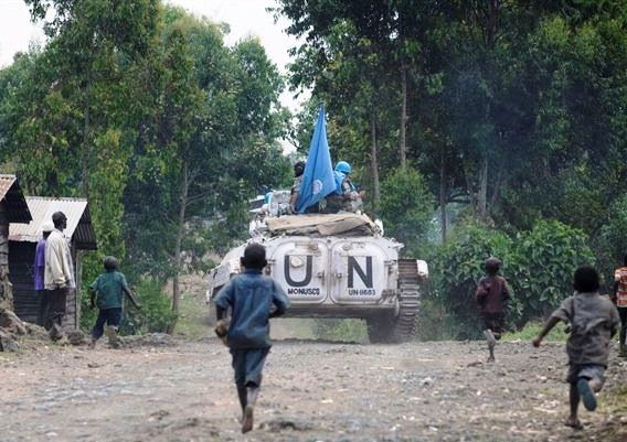 Des Casques bleus à Goma