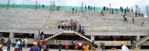 Le stade Lumumba de Matadi en travaux