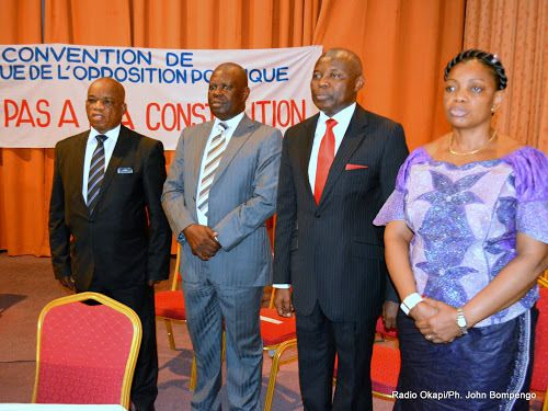 Des leaders de l'opposition congolaise