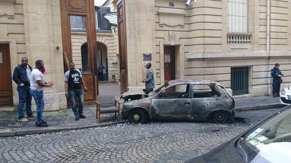 La devanture de l'ambassade du Congo-Brazza à Paris