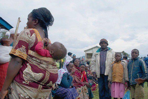 Des déplacés à l'est de la RDC