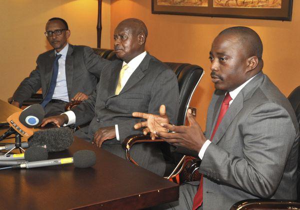 Kabila, Museveni, Kagame à Kampala (Archives)