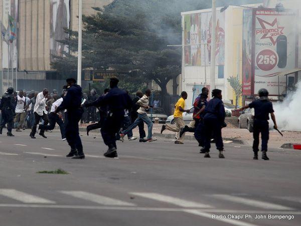 Affrontements policiers et population en RDC
