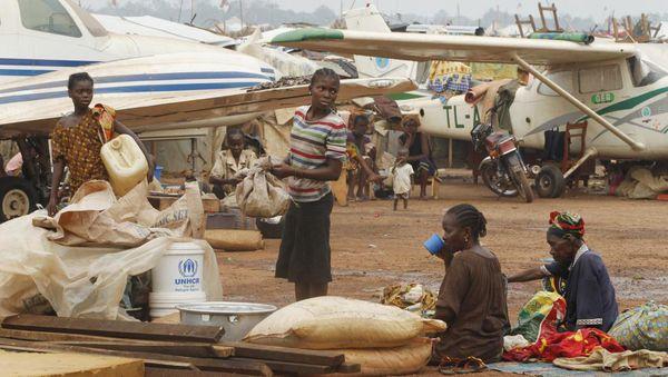 Toujours 50 000 déplacés centrafricains à Bangui