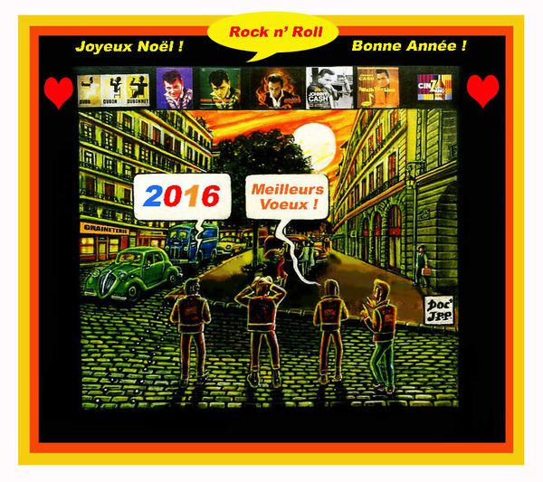 Carte de Voeux 2015-2016. DOC' JPP. (2015. Extrait de la BD BLACK ALLIGATOR. 2008-2012)