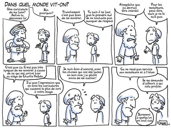 Dans quel monde vit-on? Caricature Charlie Hebdo