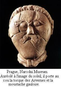 Dans cette représentation d'Arioviste, celui-ci prend des traits celtes. L'historien Christian Goudineau défend cette appartenance celte d'Arioviste, au Collège de France.