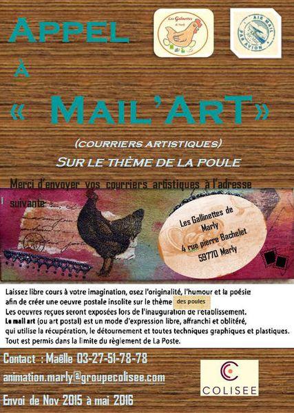 Relais : Appel à mail art &quot&#x3B;Poule&quot&#x3B; des Gallinettes de Marly