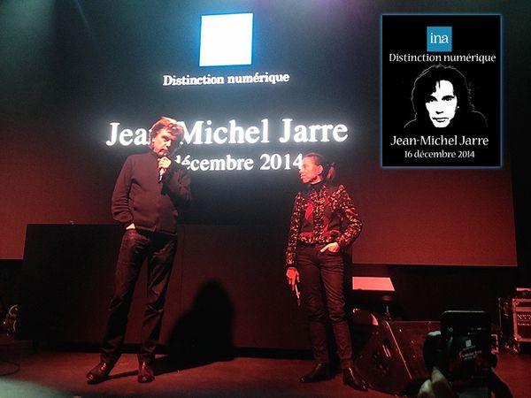 Jarre reçoit une distinction numérique de l'INA (16/12/2014)