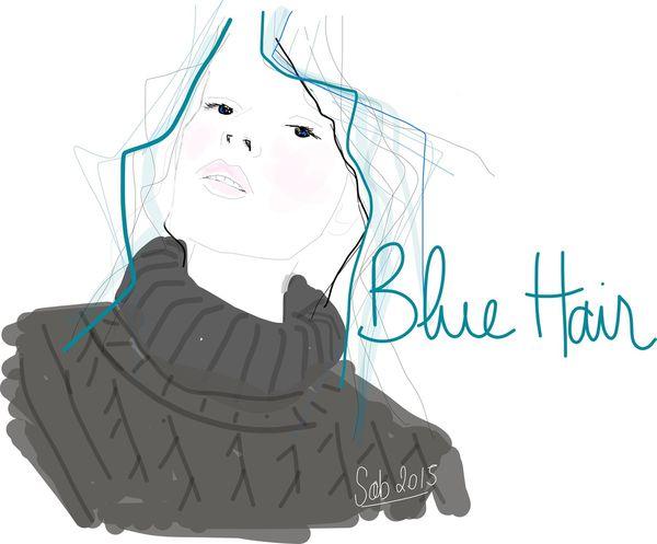En bleu
