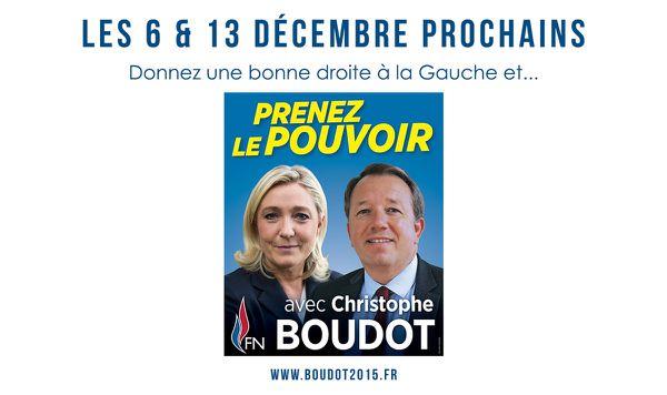 Des militants très motivés dans tout le département pour la campagne Boudot 2015