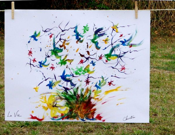 Ma première peinture réalisée le 18 septembre 2016