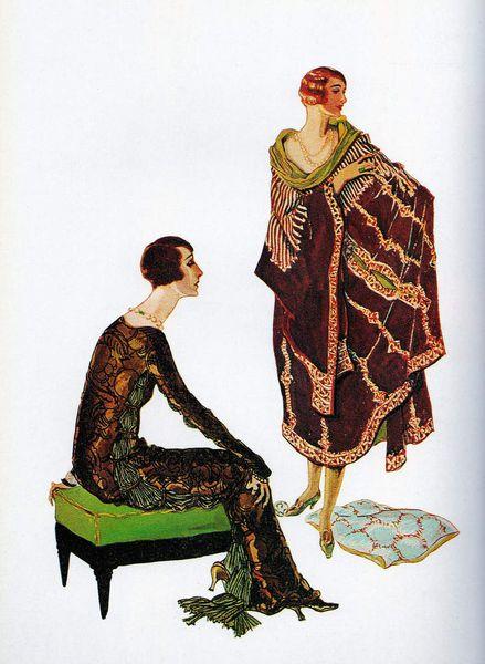 Illustration d'un numéro de Vogue de 1924