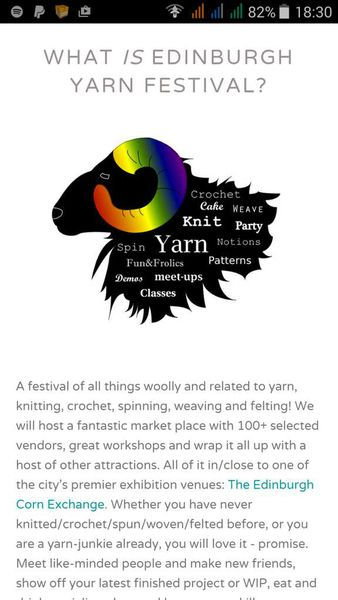 Edinburgh Yarn Festival 2015